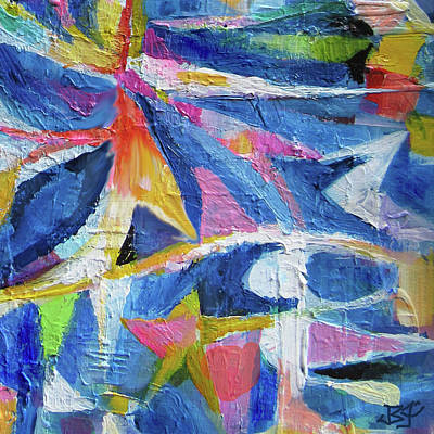 Painting - Color Construct - Detail by Jean Batzell Fitzgerald