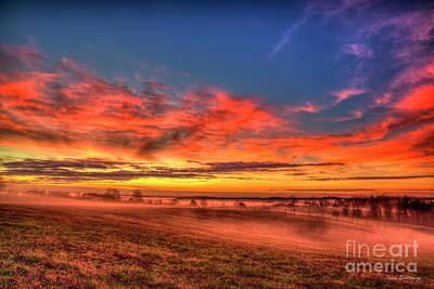 Photograph - Color Me Beautiful Georgia Landscape Sunrise Farming Art by Reid Callaway
