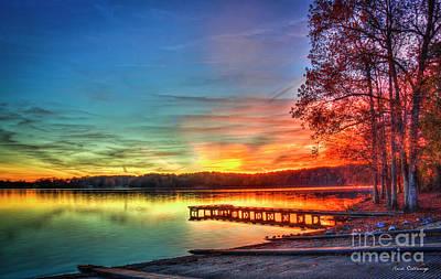 Photograph - Color Me Beautiful Lake Oconee Georgia Fall Sunset Art by Reid Callaway