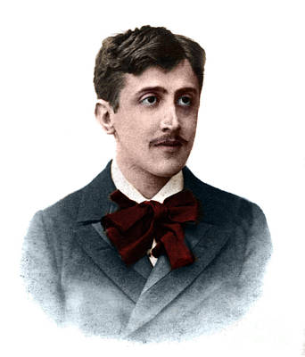 Photograph - Color Portrait Of Proust by French School