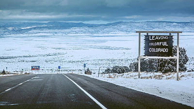 Photograph - Colorado And Utah State Line by Jeanette Fellows