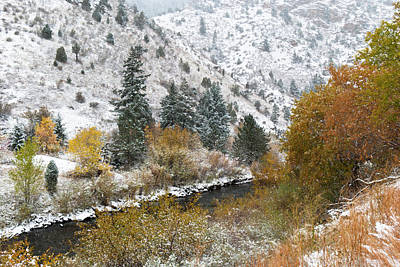 Photograph - Colorado Autumn Meets Winter by Cascade Colors