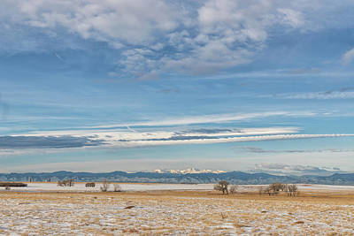 Photograph - Colorado Front Range On A Winter Day by Tony Hake