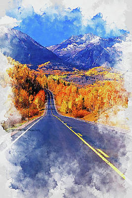 Painting - Colorado Highway - 01 by Andrea Mazzocchetti
