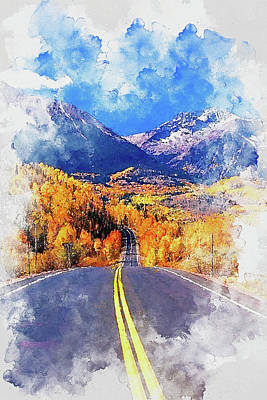 Painting - Colorado Highway - 02 by Andrea Mazzocchetti