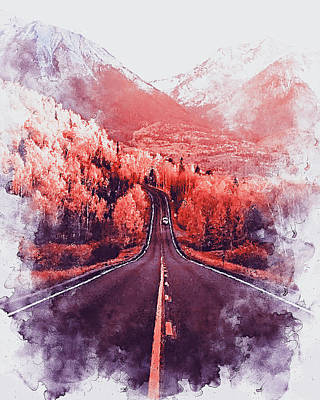 Painting - Colorado Highway - 03 by Andrea Mazzocchetti