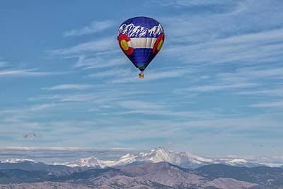 Photograph - Colorado Hot Air Balloon And Mount Meeker by Tony Hake