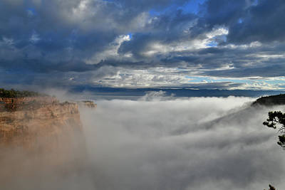 Photograph - Colorado National Monument's Fruita Canyon Fully Engulfed In Fog by Ray Mathis