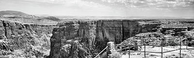 Photograph - Colorado River Bw Pano  Arizona  by Chuck Kuhn
