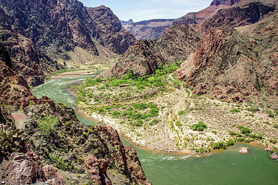 Photograph - Colorado River From South Kaibab Trail by Dawn Richards