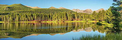 Landscapes Royalty-Free and Rights-Managed Images - Colorado Rocky Mountain Landscape Panorama by Gregory Ballos