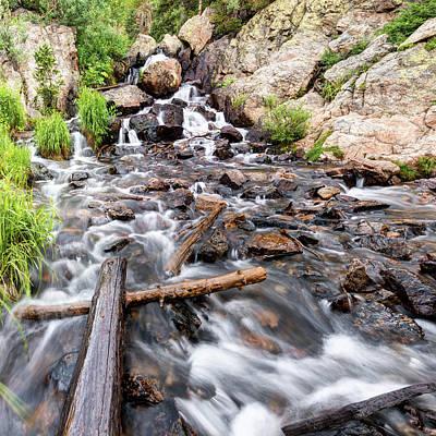 Photograph - Colorado Rocky Mountain Riverscape - Square Format by Gregory Ballos