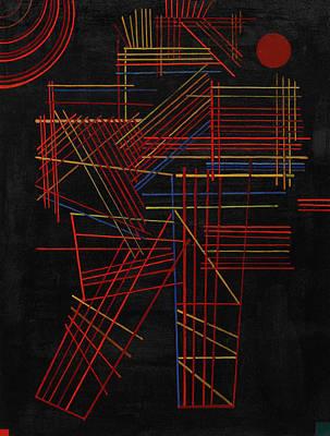 Kandinsky Wall Art - Painting - Colored Sticks, 1928 by Wassily Kandinsky