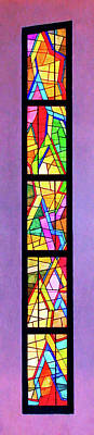 Digital Art - Colored Window Ladder by Rick Wicker