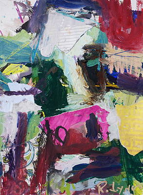 Painting - Colorful Abstract Cow Painting by Robert Joyner