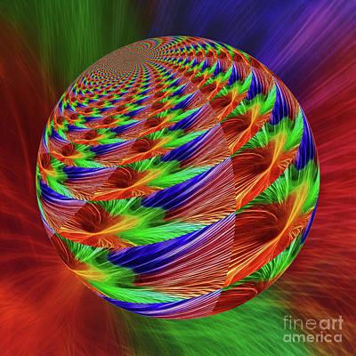 Digital Art - Colorful Abstract Globe By Kaye Menner by Kaye Menner