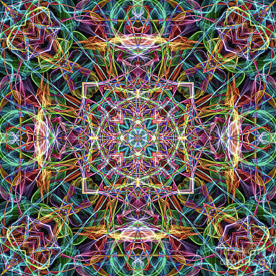 Digital Art - Colorful Abstract Mandala by Phil Perkins
