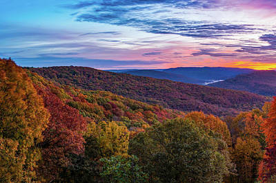 Animal Portraits Royalty Free Images - Colorful Artist Point Overlook Autumn Landscape Royalty-Free Image by Gregory Ballos