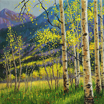 Painting - Colorful Aspens by Kim Lockman