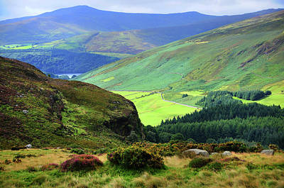 Photograph - Colorful Autumn In Wicklow.  Green Hills by Jenny Rainbow