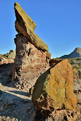 Photograph - Colorful Balanced Boulders In Colorado by Ray Mathis
