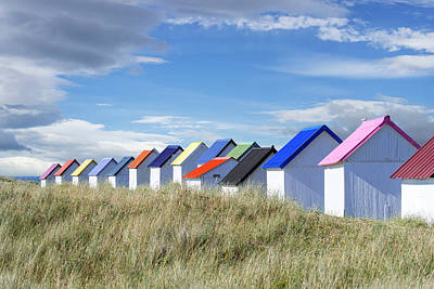 Photograph - Colorful Beach Cabins by Arterra Picture Library
