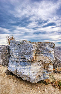 Photograph - Colorful Beach Rock Barrier by Gary Slawsky