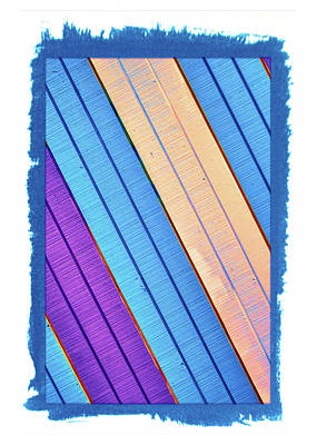 Photograph - Colorful Boards Abstract by Gary Slawsky