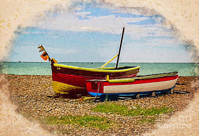 Wall Art - Photograph - Colorful Boats On Beach by Roslyn Wilkins
