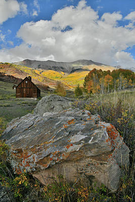 Photograph - Colorful Boulder And Aspens Along Airport Road Near Telluride by Ray Mathis