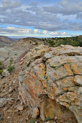 Photograph - Colorful Boulders Above Bangs Canyon by Ray Mathis