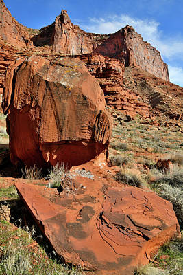 Photograph - Colorful Boulders And Cliffs Of Scenic Byway 128 by Ray Mathis