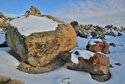 Photograph - Colorful Boulders In Little Park Road Site by Ray Mathis
