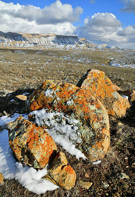 Photograph - Colorful Boulders On Book Cliffs Desert by Ray Mathis