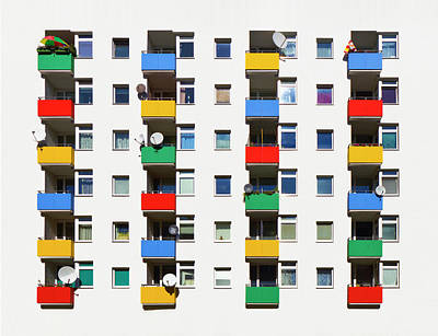 Balcony Photograph - Colorful Building Balcony by Christian Beirle González