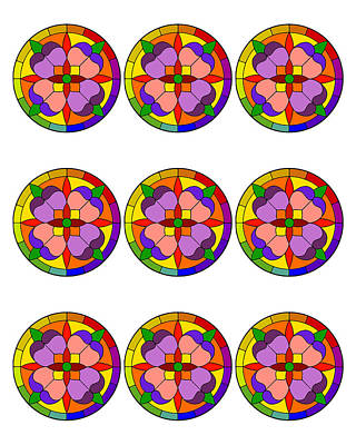 Digital Art - Colorful Circles by Chuck Staley