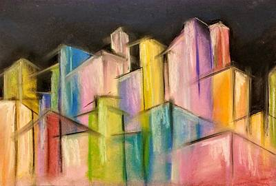 Pastel - Colorful City by Lisa Bunsey