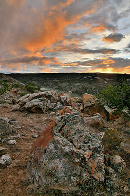 Photograph - Colorful Clouds And Boulders At The Bentonite Site by Ray Mathis
