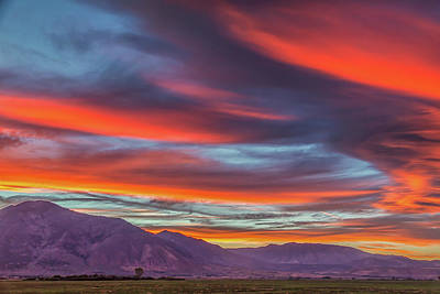 Go For Gold Rights Managed Images - Colorful Clouds at Sunset Royalty-Free Image by Marc Crumpler