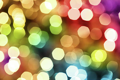 Photograph - Colorful Defocused Lights by Blackred