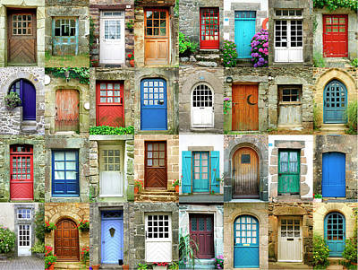 Photograph - Colorful Doors In French Region Of by Maica