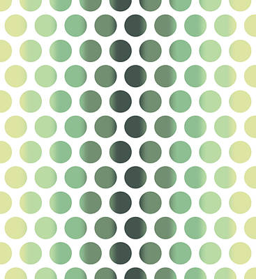 Mixed Media Royalty Free Images - Colorful Dots Pattern - Polka Dots - Pattern Design 1 - Slate, Blue, Teal, Cream Royalty-Free Image by Studio Grafiikka