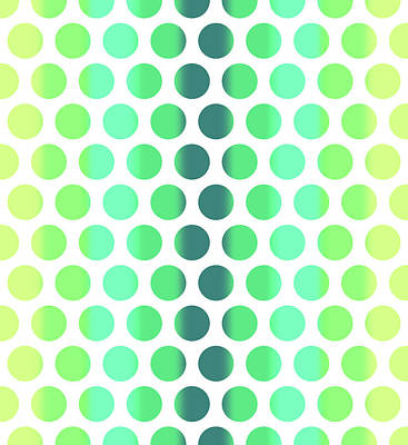 Mixed Media Royalty Free Images - Colorful Dots Pattern - Polka Dots - Pattern Design 3 - Turquoise, Teal, Blue, Green, Aqua Royalty-Free Image by Studio Grafiikka