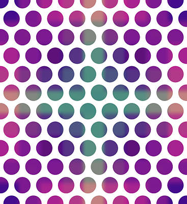 Mixed Media Royalty Free Images - Colorful Dots Pattern - Polka Dots - Pattern Design 4 - Violet, Purple, Indigo Royalty-Free Image by Studio Grafiikka