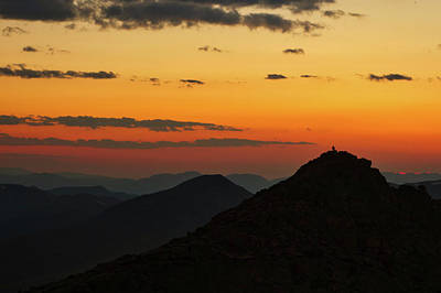 Evening At Mount Evans Art Print