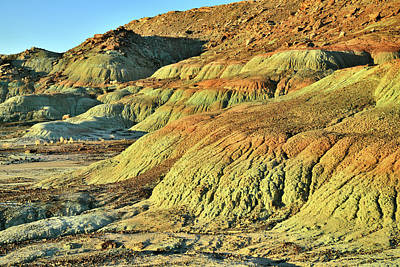 Photograph - Colorful Eroded Dunes Along Highway 191 by Ray Mathis