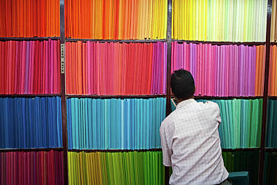 Indian Culture Photograph - Colorful Fabrics by Hadynyah