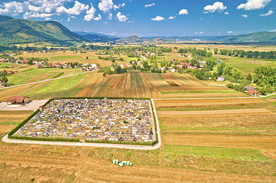Thomas Kinkade Rights Managed Images - Colorful Gacka valley aerial summer view Royalty-Free Image by Brch Photography