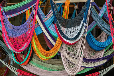 Colorful Hammocks Art Print by Philippe Marion