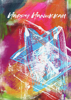 Mixed Media - Colorful Hanukkah Art Star-  Art By Linda Woods by Linda Woods